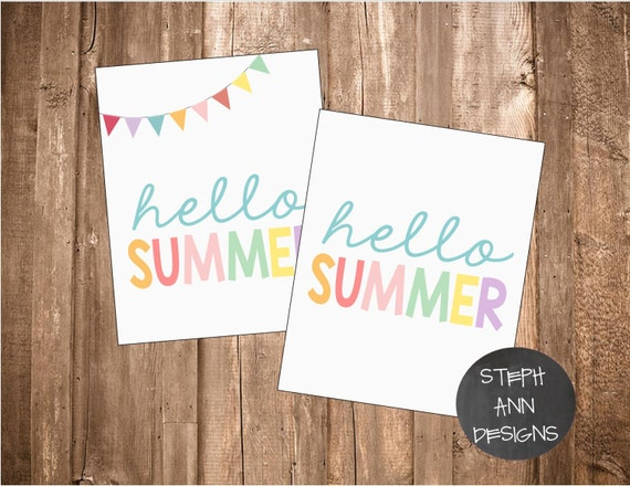 hello summer printable sign
