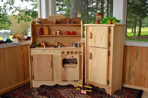 Waldorf Wooden Play Kitchen Natural Toy Kitchen Wooden Toys
