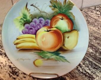 S. Hayashi Haind Painted Fruit Plate