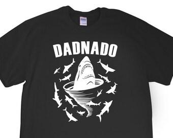 "New ""DadNado"" Mens T-shirt for Dad, Father, Papa, Grandpa, Shark Tornado Movie Party, Friend, Party, Boyfriend, Brother, Fiance, Gift"