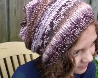 mixed Pink Hat with narrow ridge edges (ladies size)