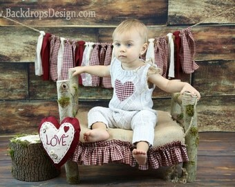 Log Bed  Photo Prop Vintage photography prop hand made wooden bed baby Newborn