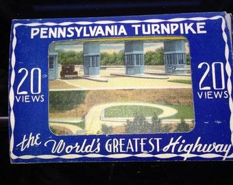 1940's Pennsylvania Turnpike Scenic Postcard Series 20 miniture postcards