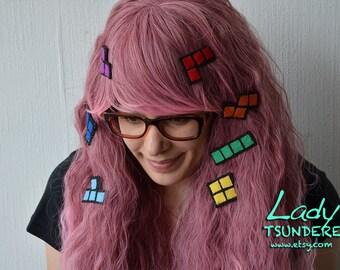 Tetris Pieces SET hair clips