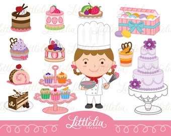 Pastry chef - sweet clipart - 14031 instant download