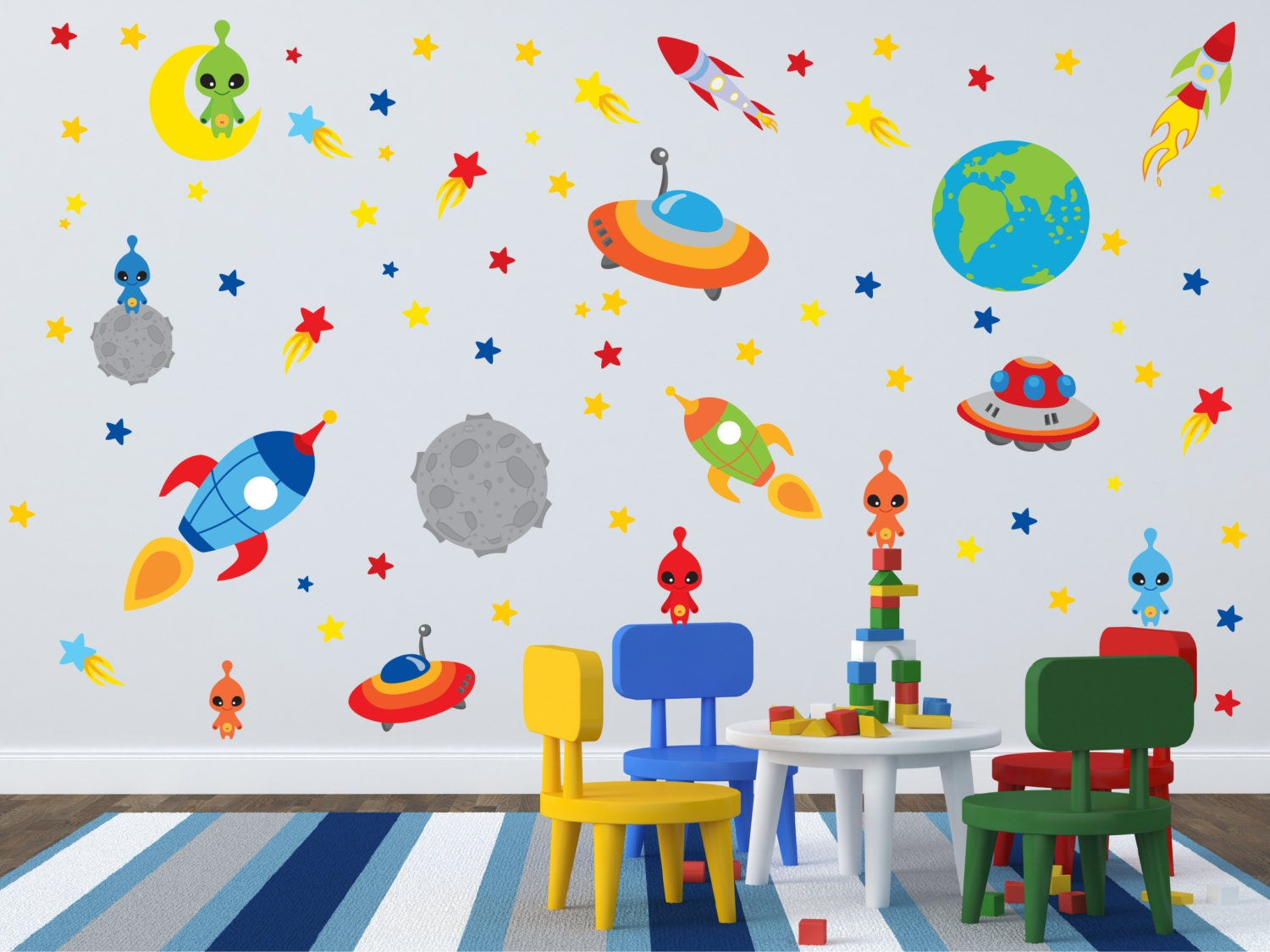 Space decals for walls