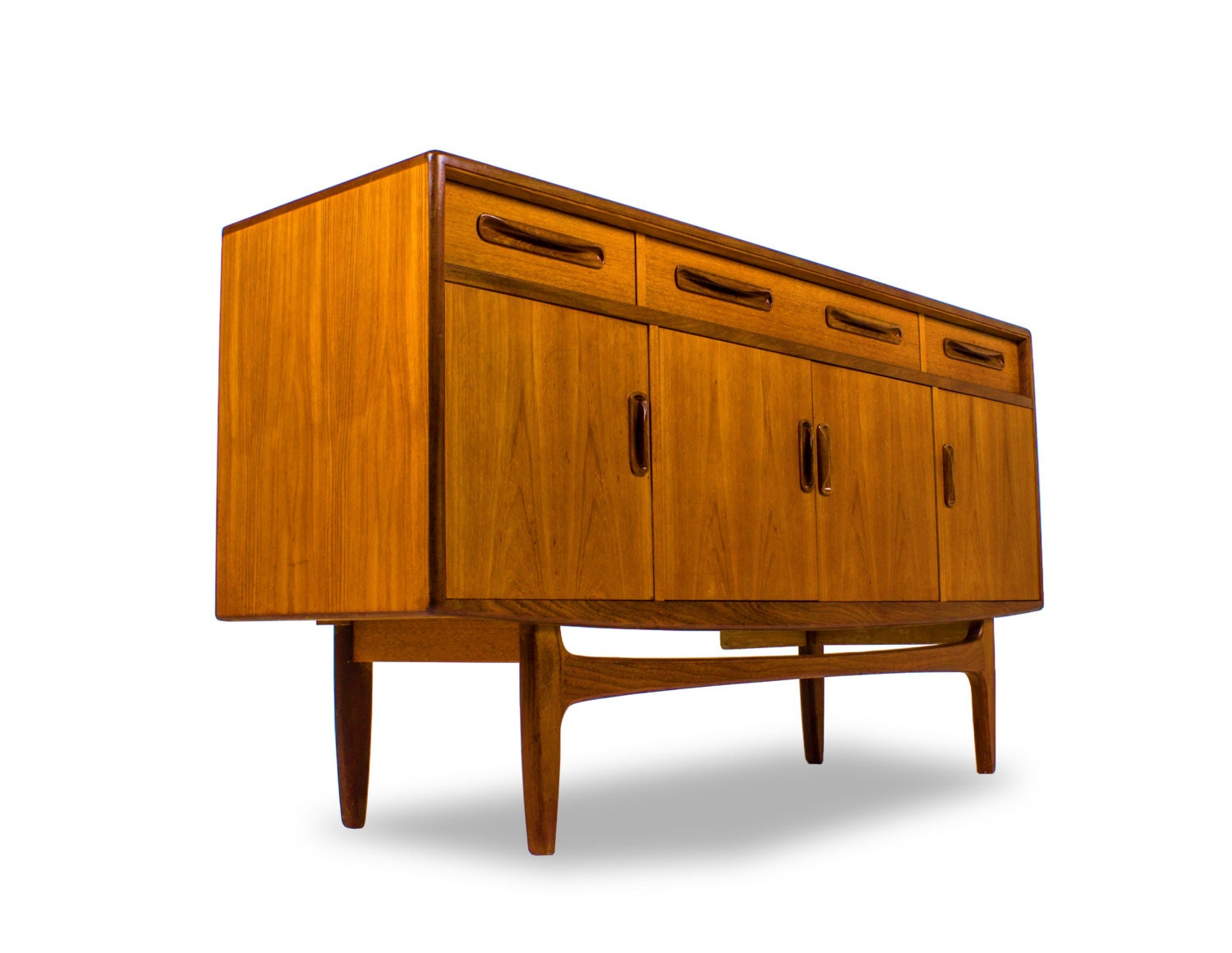 G plan mid century credenza media console buffet drinks cabinet danish modern style mcm modern - Media consoles for small spaces plan ...