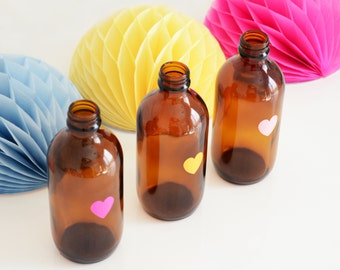 Decorative Coloured Heart Bottle/Vase