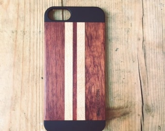 IPHONE 5/5S Rosewood and Maple striped case
