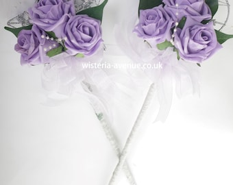Flower Girl Wand - This can be made in ANY colour - Buy 1 get 1 half price