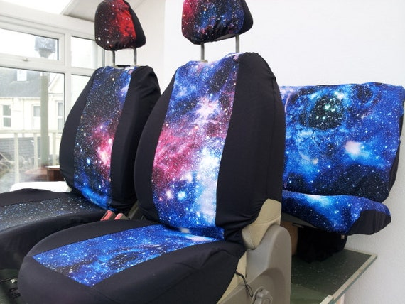 Car Seat Covers Front And Rear Covers Galaxy Print English