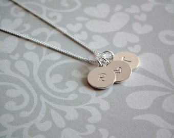 charme - sterling silver disk necklace