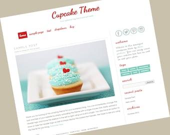 Wordpress Template - Responsive wordpress theme - Cup Cake