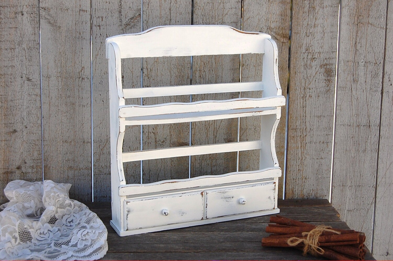 spice rack gew rz schrank shabby chic wei lackiert k che. Black Bedroom Furniture Sets. Home Design Ideas