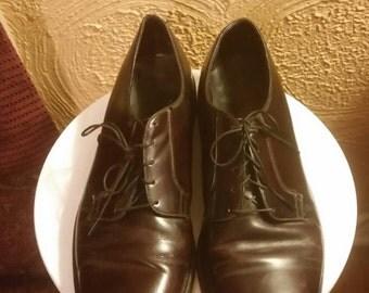 Vintage leather oxford men's shoes, Florsheim, 10 1/2 D.