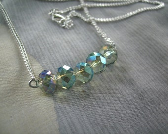 Swarovski crystal necklace pendant sterling silver chain