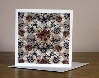 Monkey Orchid Greetings Card