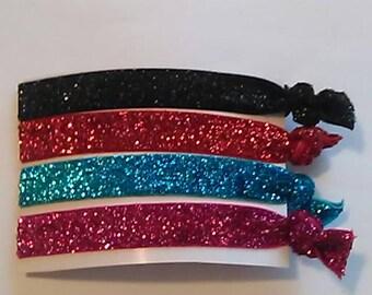 Embellished Hair Tie Set. Ponytail holders.