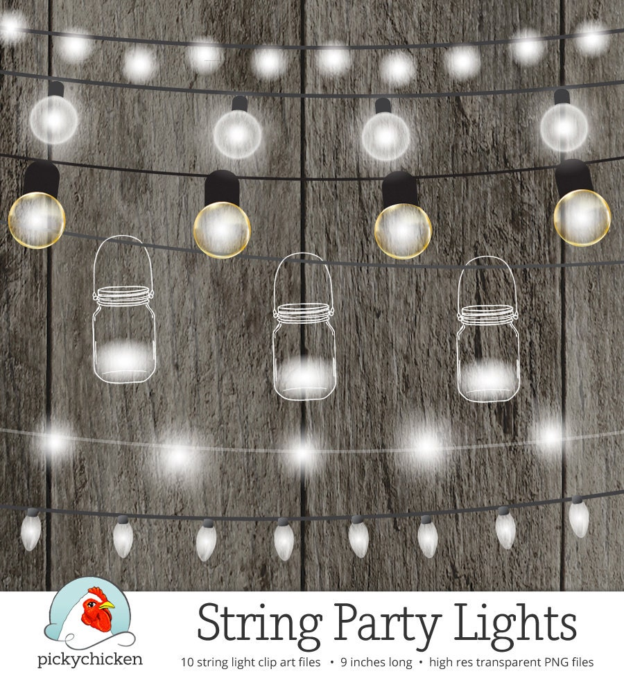 String Lights Clipart Fairy Lights Chalkboard Party
