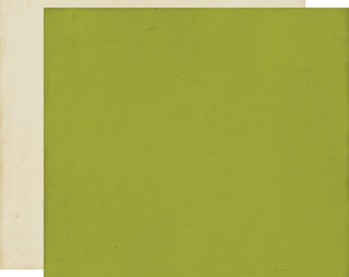 2 Sheets of Echo Park Paper THIS & THAT CHARMING 12x12 Scrapbook Paper - Green/Cream