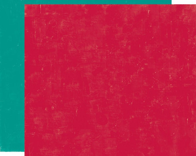 1 Sheet of Echo Park Paper HAPPY CAMPER 12x12 Camping Theme Scrapbook Paper - Red/Teal