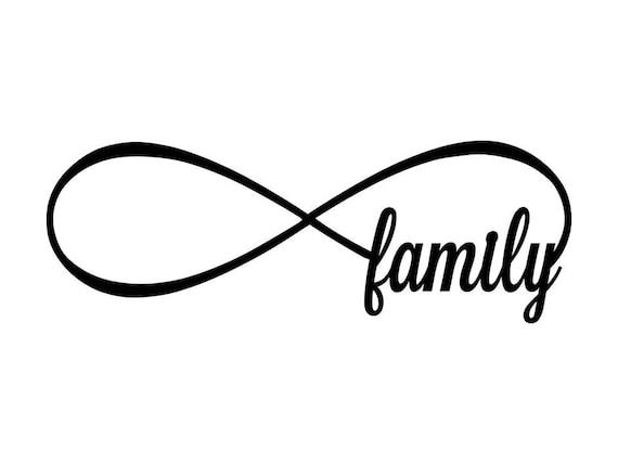 articles similaires famille signe infini en m tal signe infini de la famille sur etsy. Black Bedroom Furniture Sets. Home Design Ideas