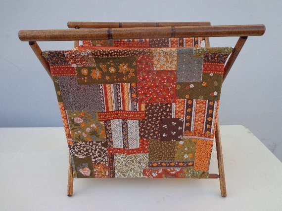 Knitting Bag Stand : Vintage knitting bag stand sewing arts crafts yarn caddy