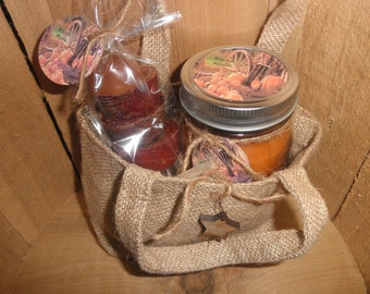 8oz BURLAP GIFT BAG...You Choose the Stuffins and Scent
