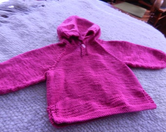 Sweater - hooded - Pink