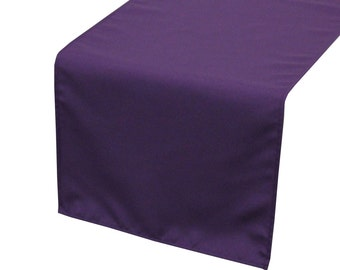 Purple Polyester Table Runner | Wedding Table Runners