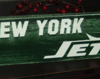 New York Jets Wooden Wall Sign