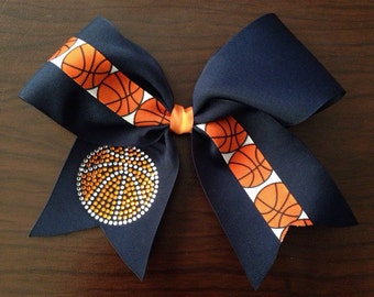 Large Basketball Cheer Bow