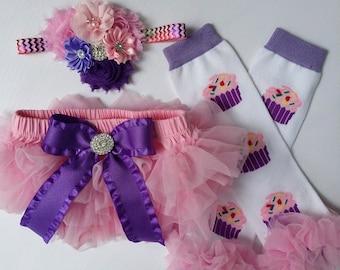 Cupcake Bloomers/Baby Bloomers/Ruffle Bloomers/Toddler Bloomers/Newborn Bloomers/Birthday Bloomer/Infant Bloomers/Lace Bloomers/Cake Smash