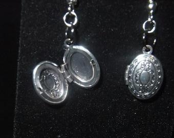 Grey Locket Earrings