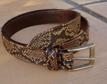LEATHER HANDMADE BELT / Leather Belt / Belt Handmade / Belt Man / Belt Women / Python Belt / Belt Red.