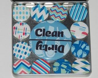Clean Dirty Dishwasher Magnet - Housewarming Gift - Kitchen Magnet Gift Set - Fridge Magnet - Fridge Magnets - Dirty Clean Dishwasher Magnet