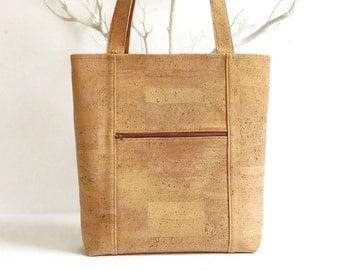Eco Friendly Bag Made from Cork / Natural Cork Bag / Vegan Gift