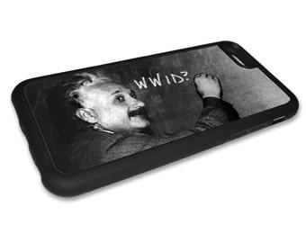 Einstein iPhone Case - iPhone 5 Case -  iPhone 6 Case - iPhone 6 Plus Case -  Phone Cases- Rubber iPhone Case - Albert Einsetein Unique Case