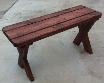 Picnic Bench. 3 ft x 1 ft. 18 inches high.