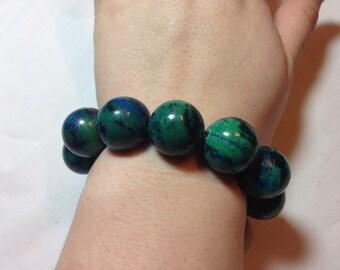 Chunky Malachite Bracelet