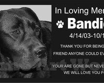 Pet Headstone, Granite Memorial Grave Marker with photo engraved, Tombstone / Customized.
