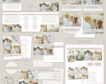 Premade Photography Marketing Templates Set with Print Release, Gift Certificate and more for Photographers 006 -C265- INSTANT DOWNLOAD