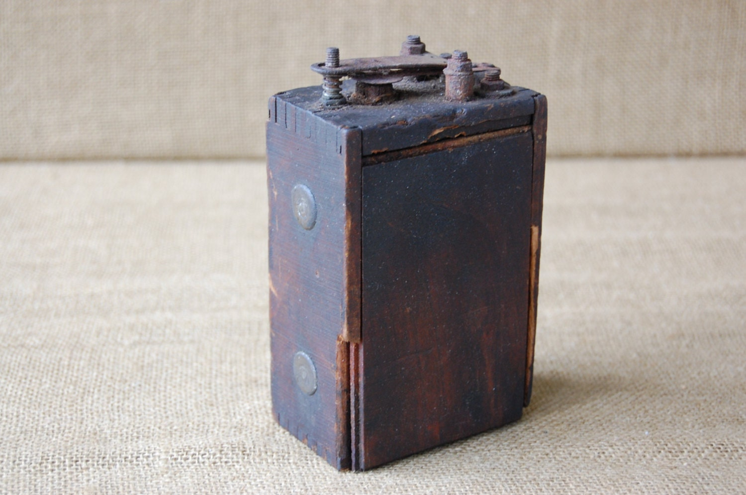 Antique Car Ignition Coil : Antique ford model t ignition coil battery wood cased dove