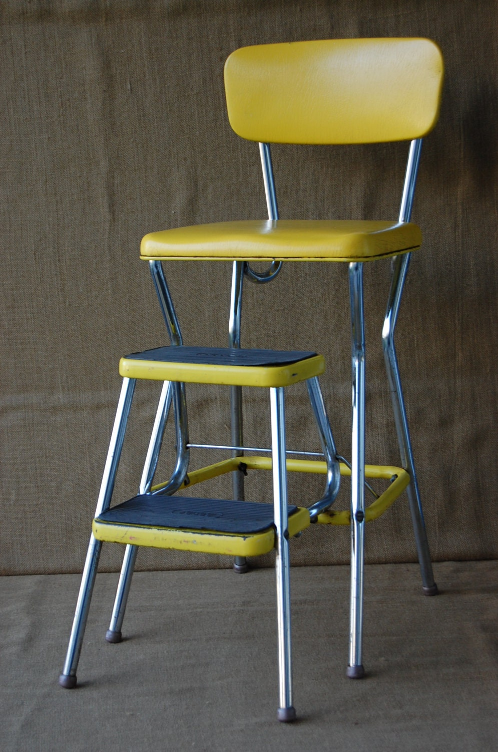 Vintage Metal Cosco Step Stool Chair Kitchen Stepstool
