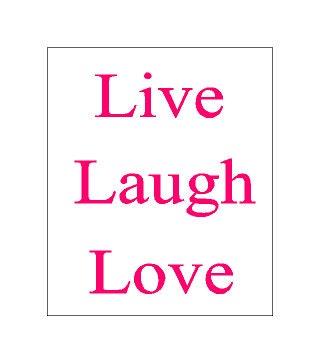 home decor live laugh love stencil reusable by