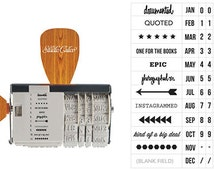 American Crafts Studio Calico Rotary Phrase Stamp, Roller Stamp, Scrapbooking Supplies, Rubber Stamps