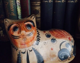 Mexican Art Pottery Cat