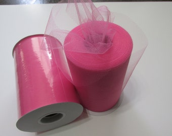 Shocking Pink Tulle Fabric 100 Yards