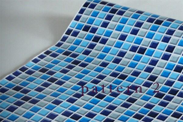 abnehmbare mosaik fliesen muster selbstklebende vinyl tapete. Black Bedroom Furniture Sets. Home Design Ideas