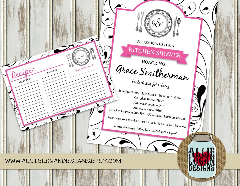 Wedding Shower Kitchen Shower Invitations By Allielogandesigns